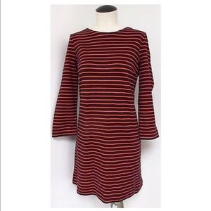J. Crew classic navy and red striped dress